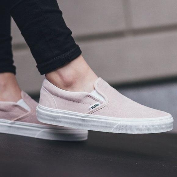 Vans Shoes   Vans Light Pink Slipons